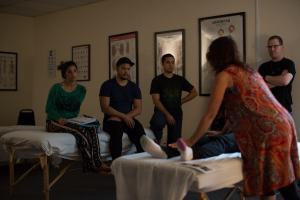 massage therapy school instructor hands on
