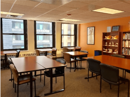 Chicago campus library remodeled room