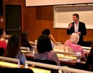 Daniel Friedland speaks to students