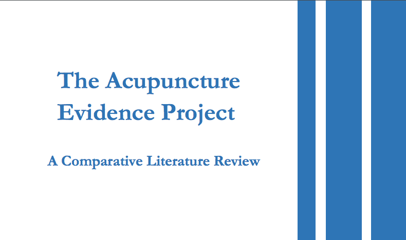 The Acupuncture Evidence Project