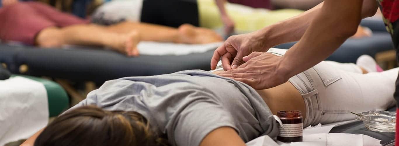 Student practice acupuncture