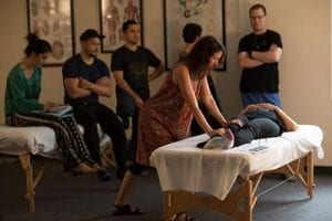 Massage school teaching techniques for depression and anxiety.
