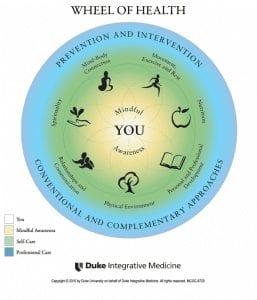 The Wheel of Health from Duke Integrative Medicine