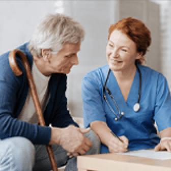 Nurse with Elder man
