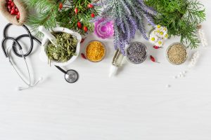 Herbs with medical tools