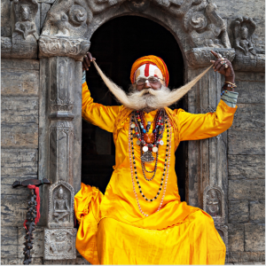 A traditional Indian yogi