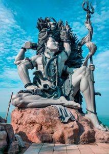 A statue of Shiva in meditation