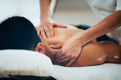 man getting massage - chicago